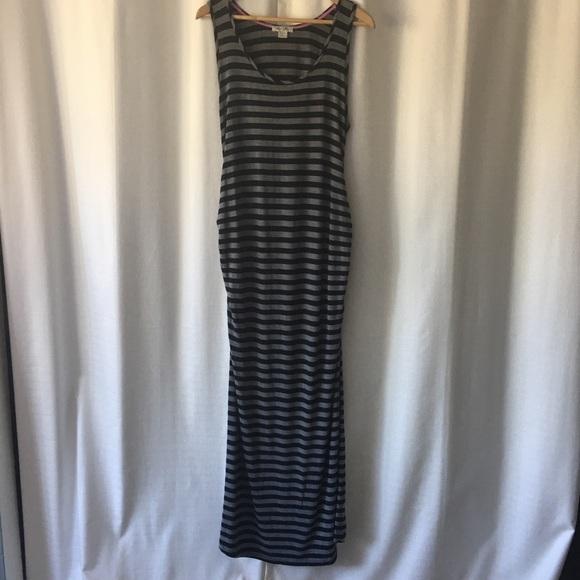 summer & sage Dresses & Skirts - Summer & Sage striped maternity maxi dress